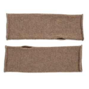 Lushan Recycled Cashmere mittens - warm sand