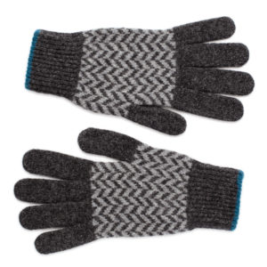 Nairn Scottish knitwear lambswool gloves by Gillian Kyle