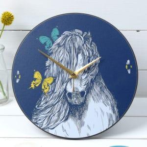Shetland pony clock by Gillian Kyle