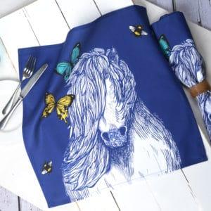 Shetland pony napkins by Gillian Kyle