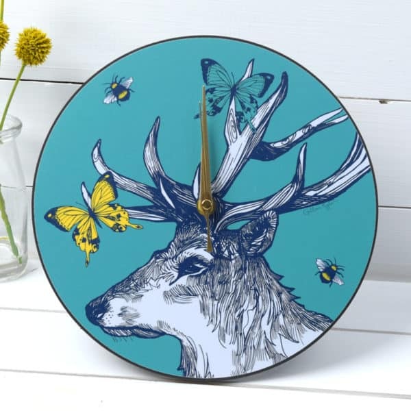 Stag clock by Gillian Kyle