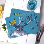 Stag Butterflies and Bees placemats by Gillian Kyle