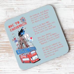 Ode to Edinburgh Individual Coaster