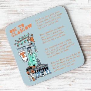 Ode to Glasgow Individual Coaster