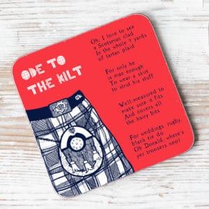 ode to the Kilt coaster